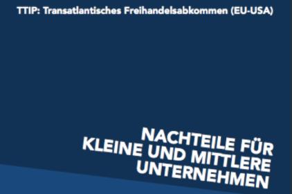 Faktenblatt: TTIP | Nachteile für kleine und mittlere Unternehmen