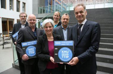 Pressemitteilung 2.500 Unternehmen gegen TTIP